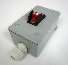Shop Fox Safety Toggle Switch In Metal Enclosure 110/220VAC Machines D4163 New