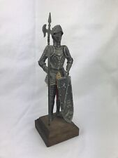 Unique Vintage Medieval Knight metal armor figurine 11� statue