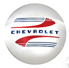 Chevrolet Stainless Steel Hub Cap Painted Letters / Accents 1941-1948