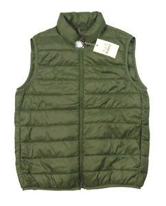 Barbour Men's Kelp Green Bretby Puffer Gilet Full Zip Vest