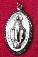 Carmelite Nun's SUPERB Vintage Chapel Sterling Filled Catholic Miraculous Medal