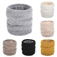 Women Winter Knitted Neck Warmer Circle Wrap Woolen Yarn Cowl Snood Scarf Grace