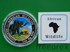 Somalia 2009 100 shillings Elephant Colorized 1 Oz Silver
