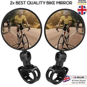 2 x MTB Mountain Bike Handle Bar 360 Rotatable Convex Bicycle Rear-view Mirror