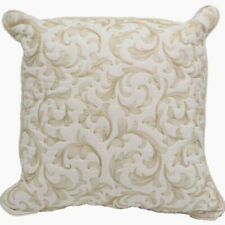 New Croscill Marietta Fashion Pillow Ivory Embroidered Square 16 x 16