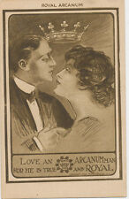 C4645 1910 POSTCARD ROYAL  ARCANUM LOVE ROMANCE  GREETING