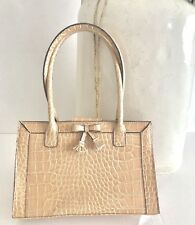 Liz Claiborne Faux Snake Skin Blush Beige Tote Handbag