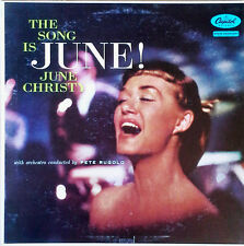 JUNE CHRISTY - THE SONG IS JUNE - CAPITOL LP - RAINBOW LABEL, LOGO ON SIDE