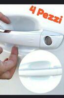 4 X ADESIVI PROTEZIONE GRAFFI MANIGLIA AUTO PVC TRASPARENTE SAGOMATO ANTIGRAFFIO