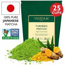 TURMERIC + MATCHA Green Tea Powder,1.76oz - Powerful SUPERFOODS Blend Rich with