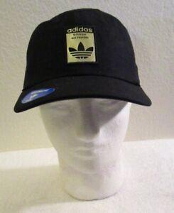 NWT Adidas Originals Mens Relaxed Base Strapback Hat OSFM Black/Gold MSRP$24