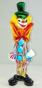Seguso A clown with double bow 1950s Murano Italy