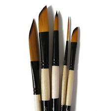 Artmaster Watercolour Paint Brush Effect Set Sword, Dagger, Round and Rigger x 5