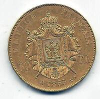 Francia 50 Francos 1855 A Paris @ Napoleon III @ Oro @@ Muy Bella @@