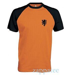 Netherlands short sleeve baseball T Shirt. Holland football soccer Tee.
