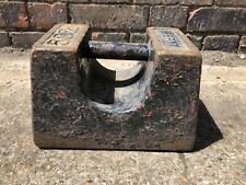 Vintage 56lb Cast Iron Rustic Market Stall Fitness Avery Weight Door stop