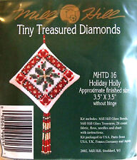 Mill Hill Cross Stitch Bead Kit Christmas Diamond 'Holiday Holly' TD16