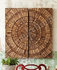 """52"""" SQUARE WOOD Wall Panel LANCIANO Contemporary Modern NEIMAN MARCUS Horchow"""