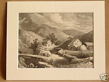 HILLS OF NEW ENGLAND USA ANTIQUE ENGRAVING FROM 1876 PUBLICATION VERY RARE 10X8
