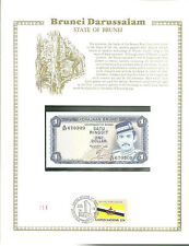 1 dollar BRUNEI Banknote WORLD CURRENCY COLLECTION Paper Money UNC Stamp MINT
