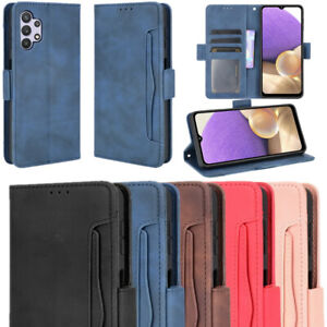 Leather Soft Case Card Wallet Cover For Samsung Galaxy A02 A02S A72 A52 A32 A12