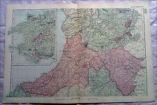Galles (centrale) anni 1890, CANCELLO Mappa PIEGA