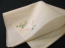 #4995🌟Vintage 30s Applied Sunbonnet Southern Belle with Bouquet Handkerchief