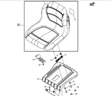 Genuine John Deere AUC11474 Ride On Lawn Mower Seat X140