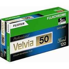 FUJIFILM VELVIA 50 120 Color Roll Film 5 Rolls from Japan New