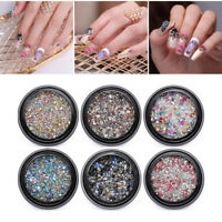 Nail Rhinestones Mixed Size Studs 3D Nail Art Decorations Mini Beads
