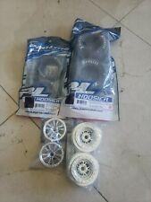 1/10 12mm Chrome Wheel & Tires set for No Prep Losi Slash DR10 Drag Pro Mod