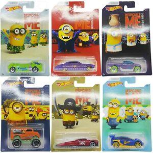 Hot Wheels Minions - Choose your car - Carded Mattel Die Cast BNIP