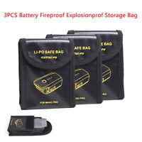 3PCS DJI Mavic Pro / 2 Zoom Platinum Battery Safe Bag Sleeve Explosionproof Case