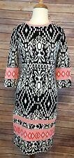 RARE Yoana Baraschi Made in NYC Figure Flattering Stretch Knit Dress Sz S