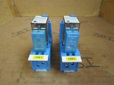 Finder Relay 55.34.9.024.0040 24 VDC 250V w. Socket Type 94.04 10A 250V Lot of 2