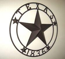 "32"" TEXAS 1836 LONE STAR BARN METAL WALL ART WESTERN HOME DECOR RUSTIC BROWN"