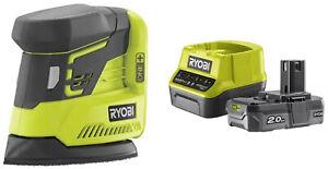 Sander Palmar Ryobi Battery 18V R18PS-0 Compact + Kit Energy 2.0 Ha
