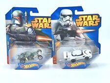 2014 Hot Wheels Disney STAR WARS 2Pack Stormtrooper Race Car & Boba Fett Mattel