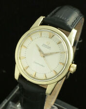 VINTAGE OMEGA SEAMASTER 500 AUTOMATIC MENS WRIST WATCH - 14K GOLD CAP- MINT DIAL