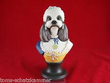 Goebel Aristo Dogs Porzellan Büste Madame du Barry Thierry Poncelet Hund