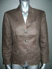 RALPH LAUREN WOMEN JACKET BLAZER SUIT size 4 BROWN 100% LINEN STUNNING