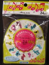 2 Packs of Colorful 24 Food Picks for Lunch Box - Musical Note (Total 48 Pcs)