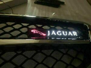 Jaguar XJ XE XF F LED light front grille logo illuminated decal  badge