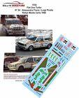 DECALS 1/43 REF 1534 FIAT UNO TURBO FIORIO RALLYE MONTE CARLO 1986 RALLY WRC