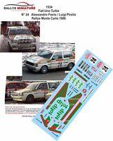 DECALS 1/18 REF 1534 FIAT UNO TURBO FIORIO RALLYE MONTE CARLO 1986 RALLY WRC