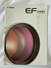 Canon EF Lenses for EOS Cameras,1998 Product Brochure
