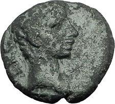AUGUSTUS 27BC Philippi Macedonia PRIESTS Founding City Oxen Roman Coin i59417