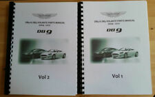 ASTON MARTIN DB9 & DB9 VOLANTE PARTS MANUAL REPRINTED A4 COVERS YEARS 04 - 12
