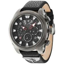 Watch Police Mephisto R1451250002 Total Black Leather Multifunction Man Woman
