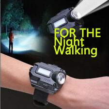 Waterproof LED Display Wrist Watch Light Rechargeable Flashlight Compass Torch